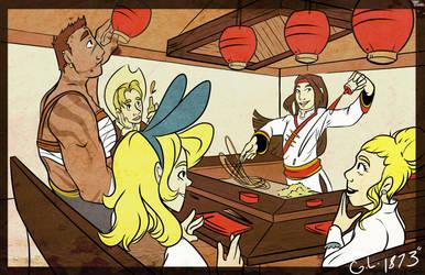 Secret Santa: Golden Lotus and Friends by VohelART