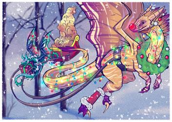 Commission: Flight Rising Christmas