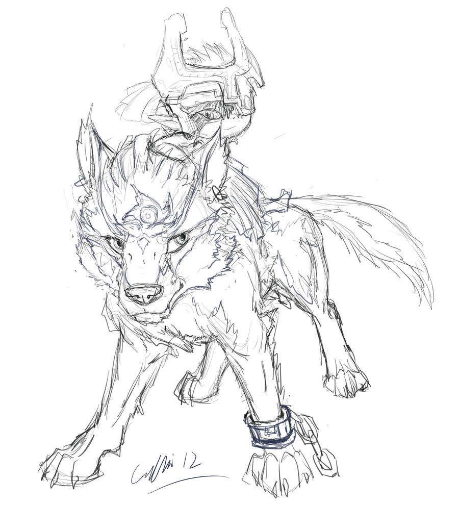 Drawing Of Legend Of Zelda Wolf Switchsecuritycompanies
