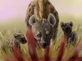 Hyenas by SilverFlight