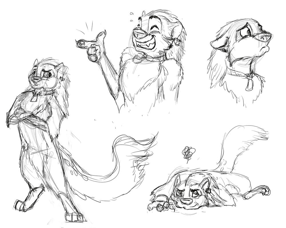 Kota character sketches by SilverFlight