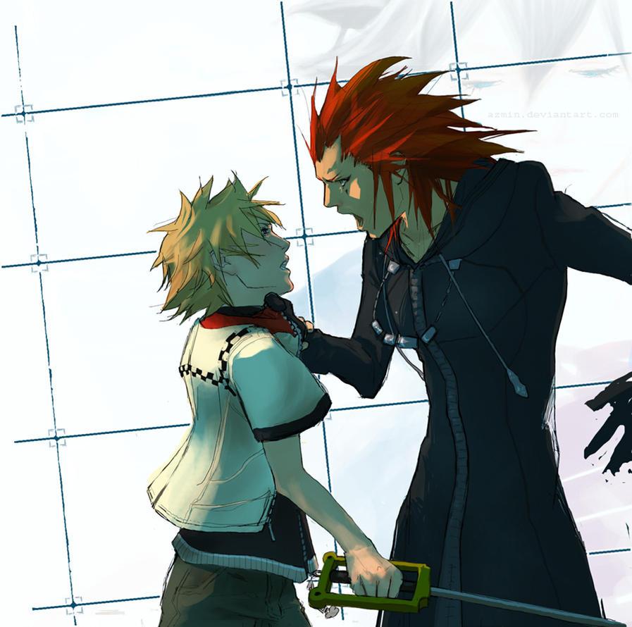 KH: Axel + Roxas by azmin