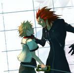 KH: Axel + Roxas