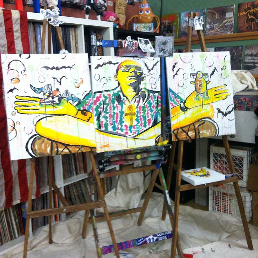 Hunter S. Thompson Triptych with Mad Road Artists by chrispjones