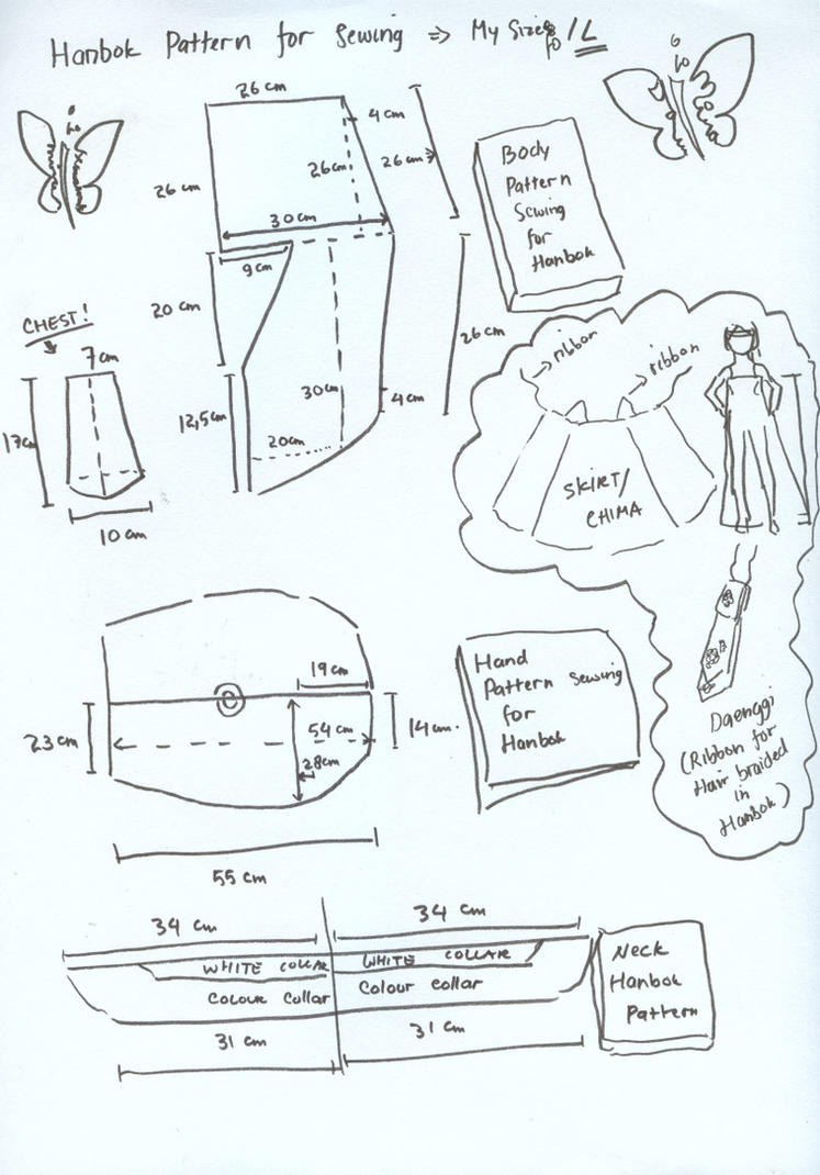 Hanbok pattern for sewing by seawaterwitch on deviantart hanbok pattern for sewing by seawaterwitch jeuxipadfo Gallery