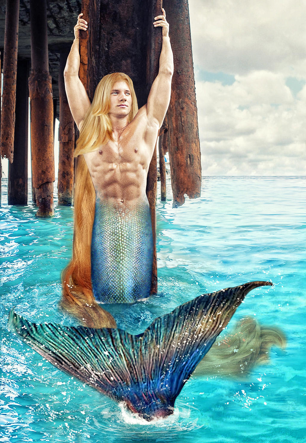 The Young Merman Prince Eric by seawaterwitchFantasy Young Prince