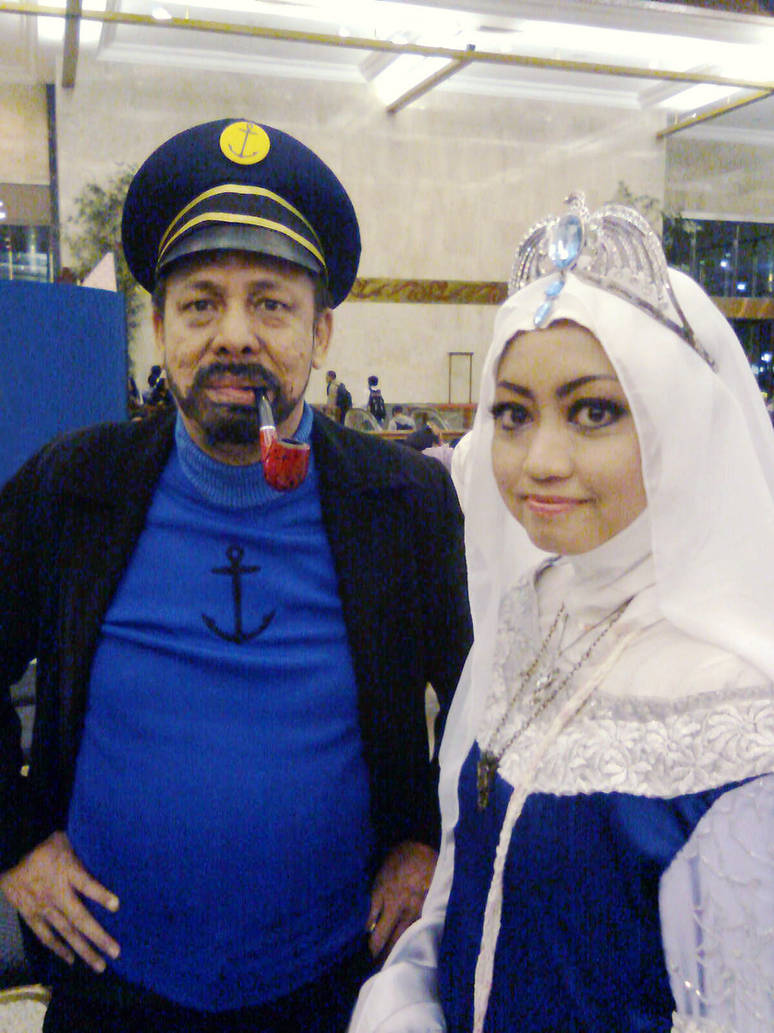 Captain Haddock and Rowena Ravenclaw by seawaterwitch on