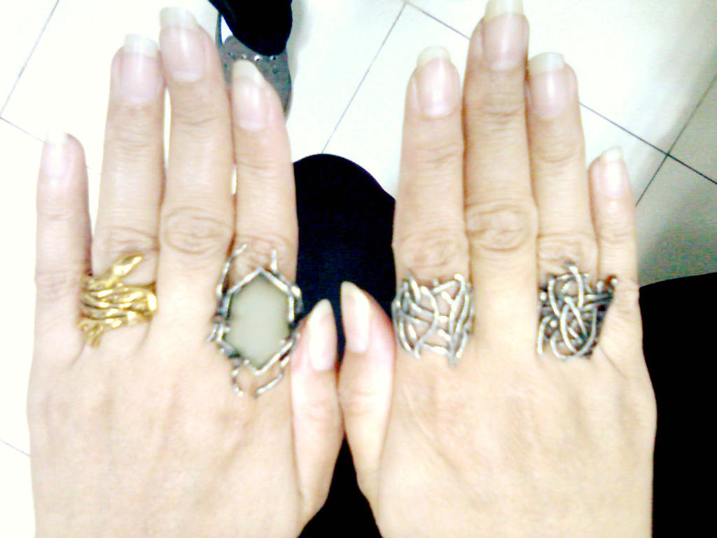 Thranduil rings by seawaterwitch