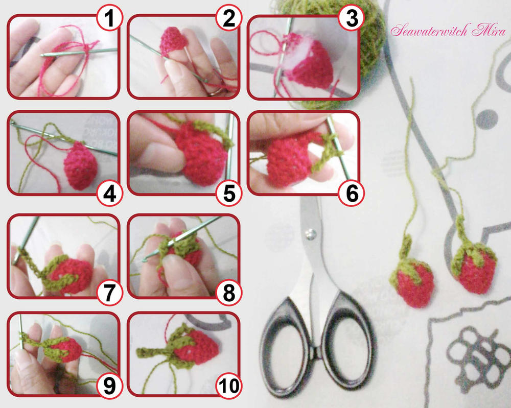 Stroberiku or My Strawberry Amigurumi by seawaterwitch
