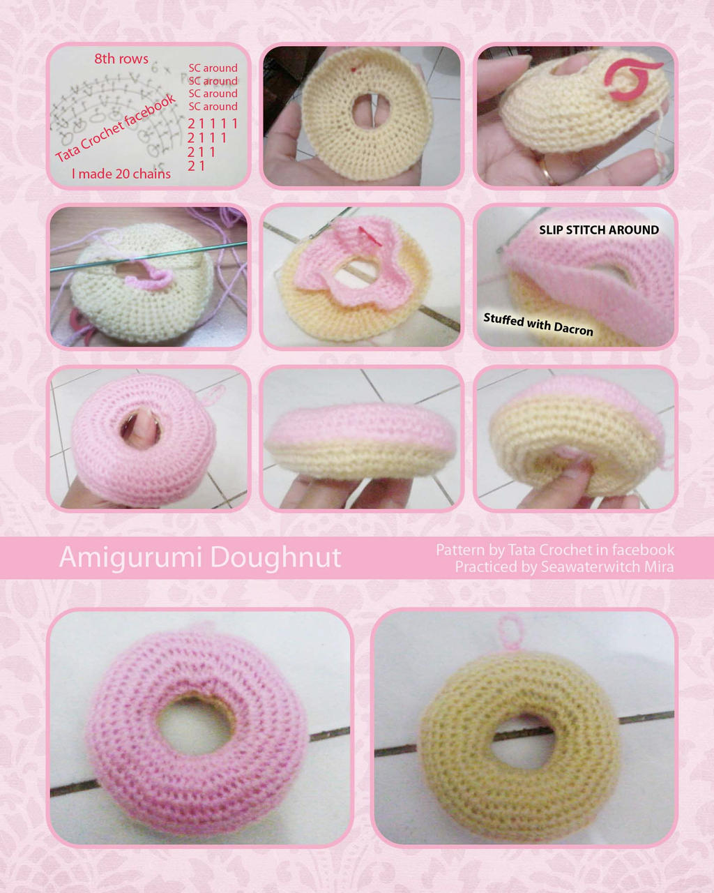 Free Online Crochet Patterns For Amigurumi : Amigurumi Doughnut by seawaterwitch on DeviantArt