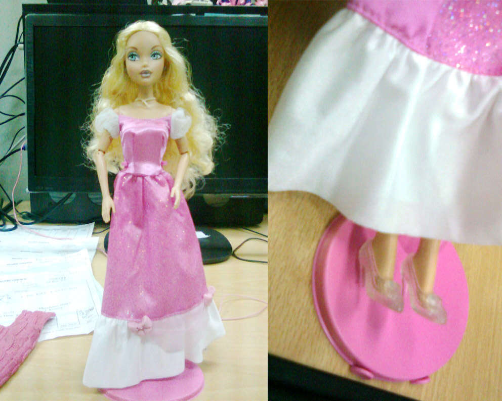 Cinderella Pink Dress and Glass Slippers by seawaterwitch