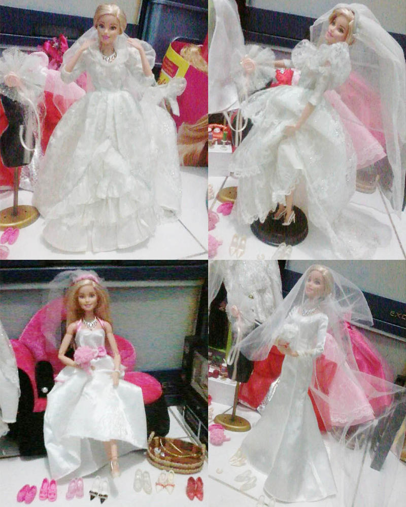 Barbie and wedding dressess by seawaterwitch