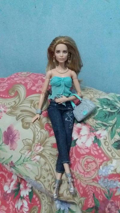 natalia vodianova barbie doll by seawaterwitch
