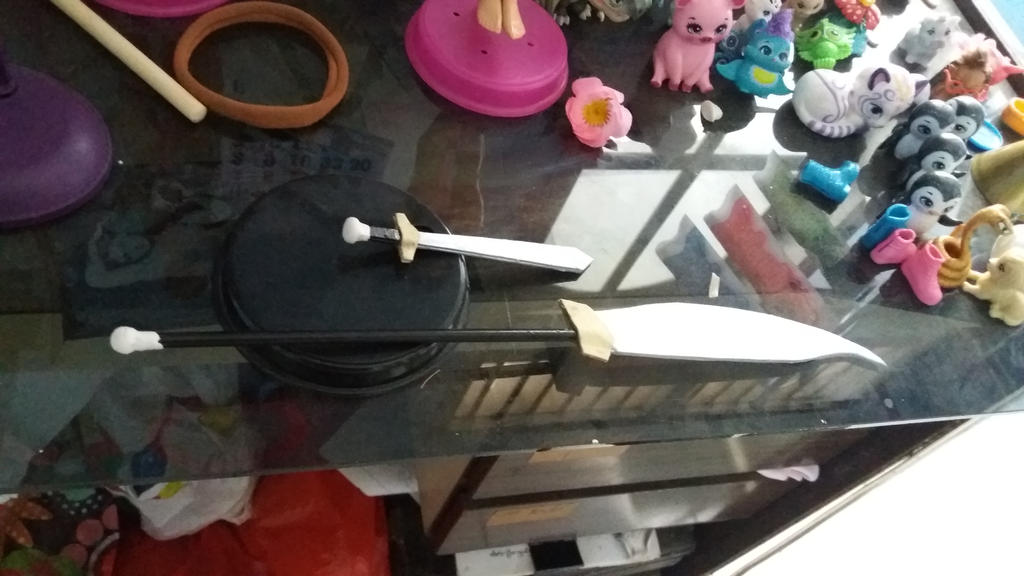 WIP Da Pao Halberd Spear for Ken doll by seawaterwitch