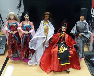hanfu ken doll and hanfu barbie part 2 by seawaterwitch