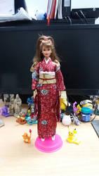 Kimono Barbie doll 1 by seawaterwitch