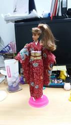 Kimono Barbie doll 2 by seawaterwitch