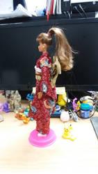 Kimono Barbie doll 3 by seawaterwitch