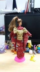 Kimono Barbie doll 4 by seawaterwitch