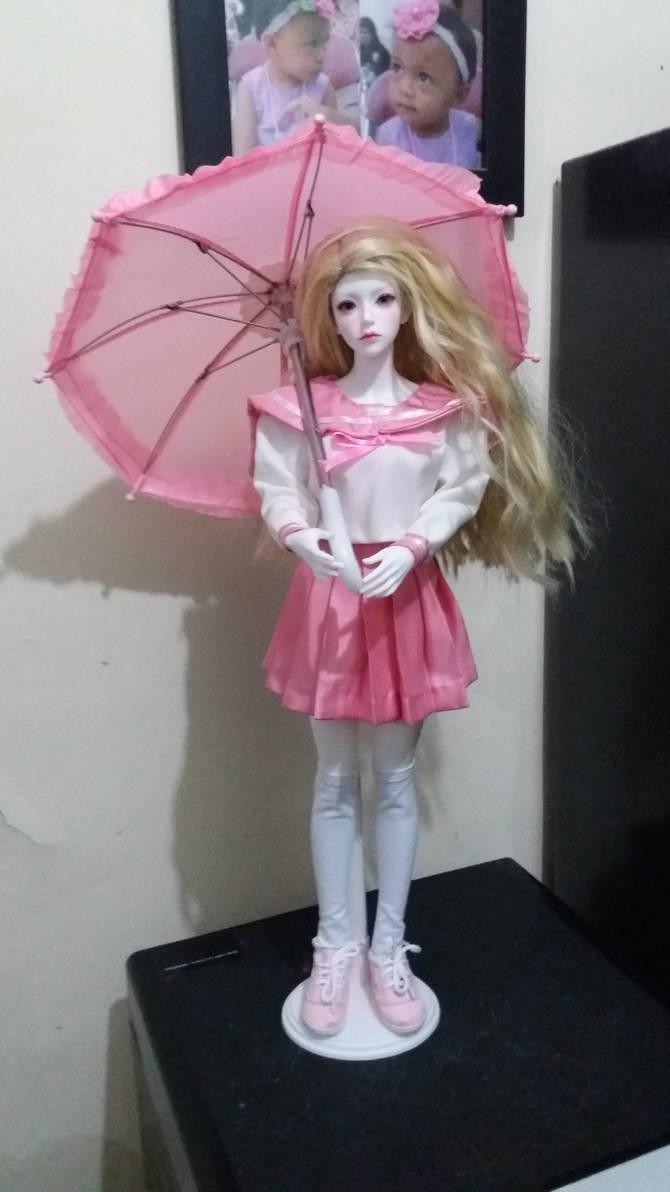 BJD sailorfuku pink umbrella 1