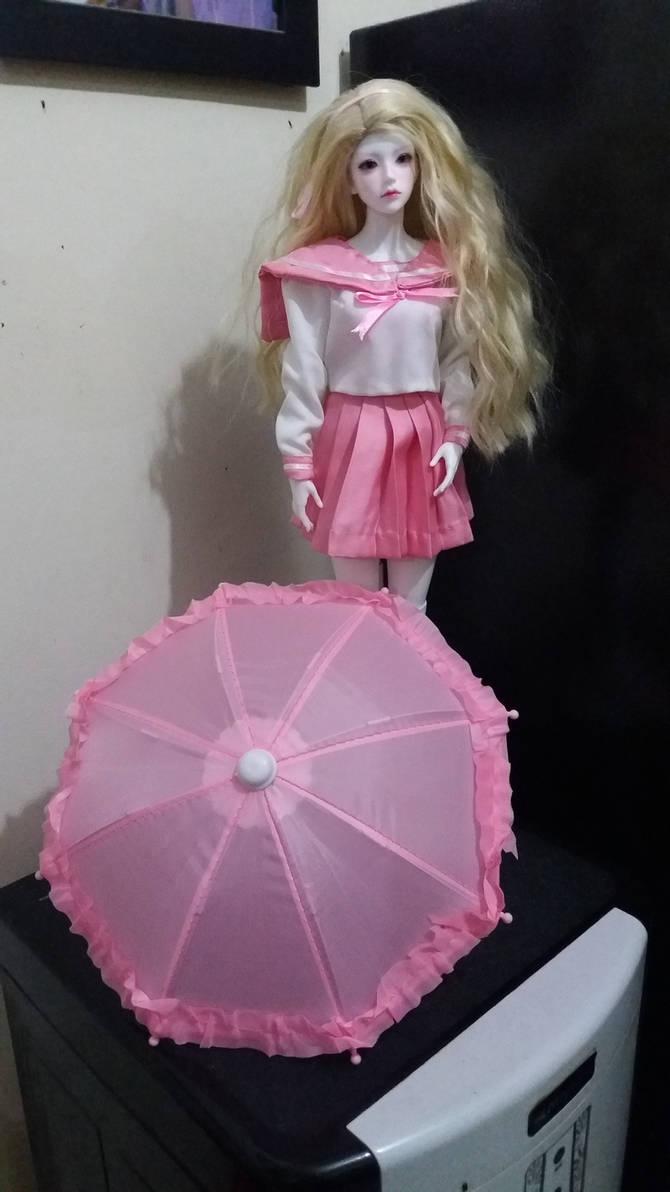 BJD sailorfuku pink umbrella 2