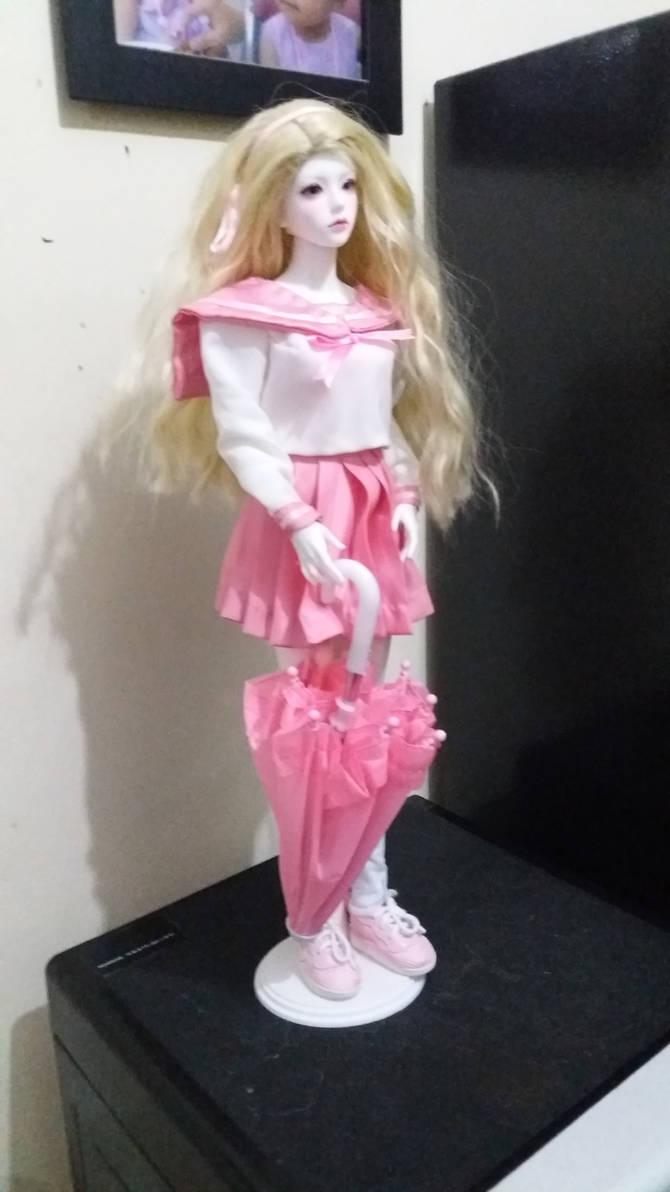 BJD sailorfuku pink umbrella 3