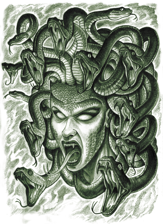 Medusa Artwork Tattoo: The Terrifying Face Of Medusa By Nahuel4990 On DeviantArt