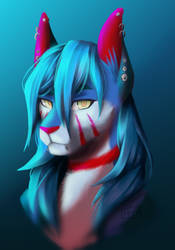 Rein portrait new by Kotofurryarts
