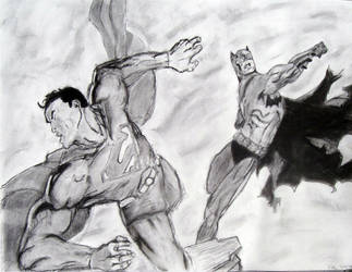Batman vs. Superman by Rowleyj