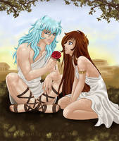 Aphrodite and Seishi by PaolaPieretti