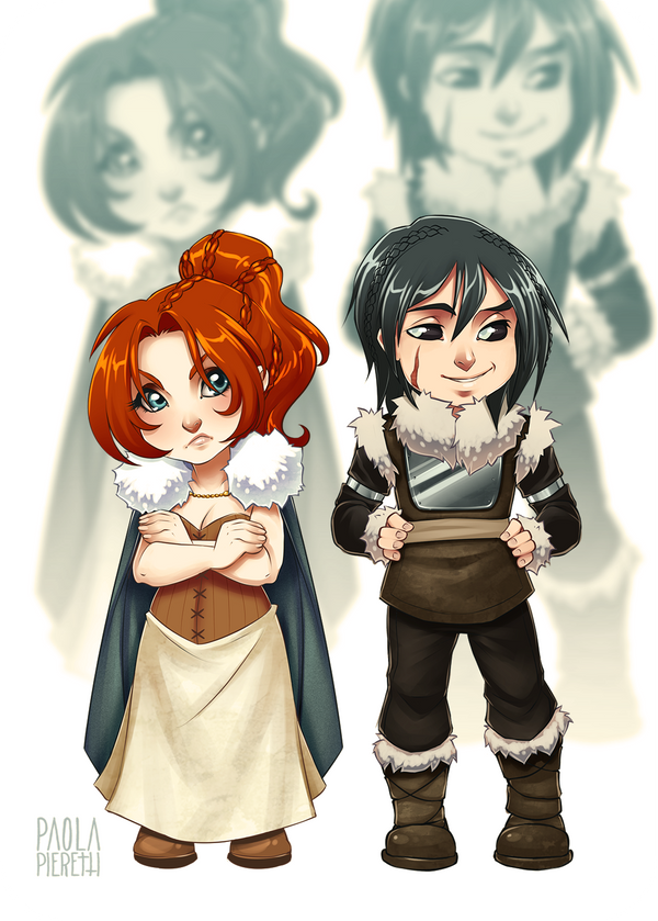 Chibi #2 and #3 by PaolaPieretti