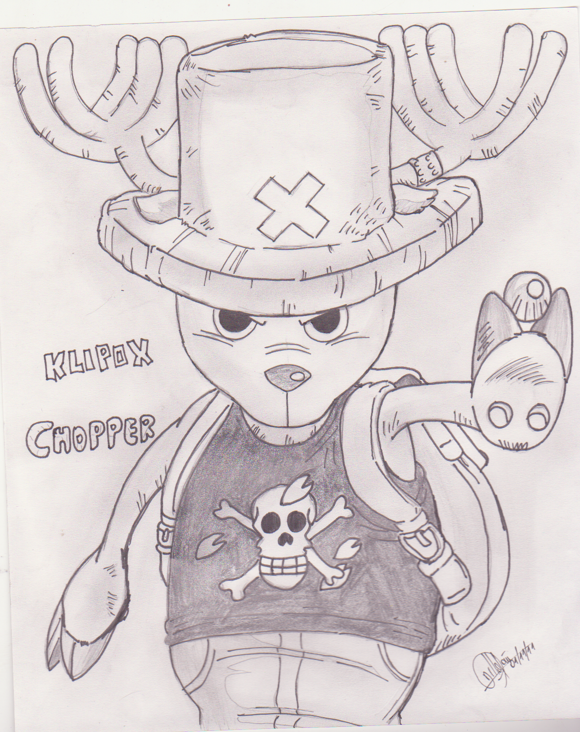 Chopper one piece by klipox on deviantart for One piece dibujos