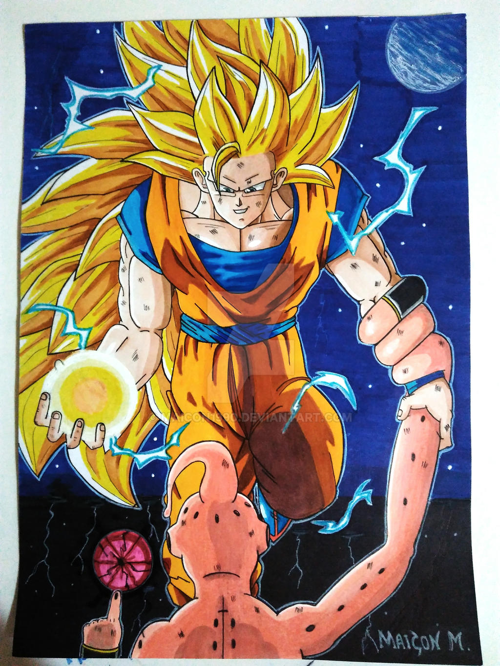 goku ssj3 vs kid buu by maicon1990 on deviantart
