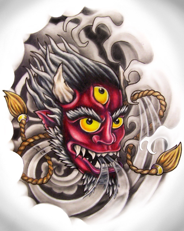 Oni Mask Tattoo: Oni Mask By Zombilly On DeviantArt