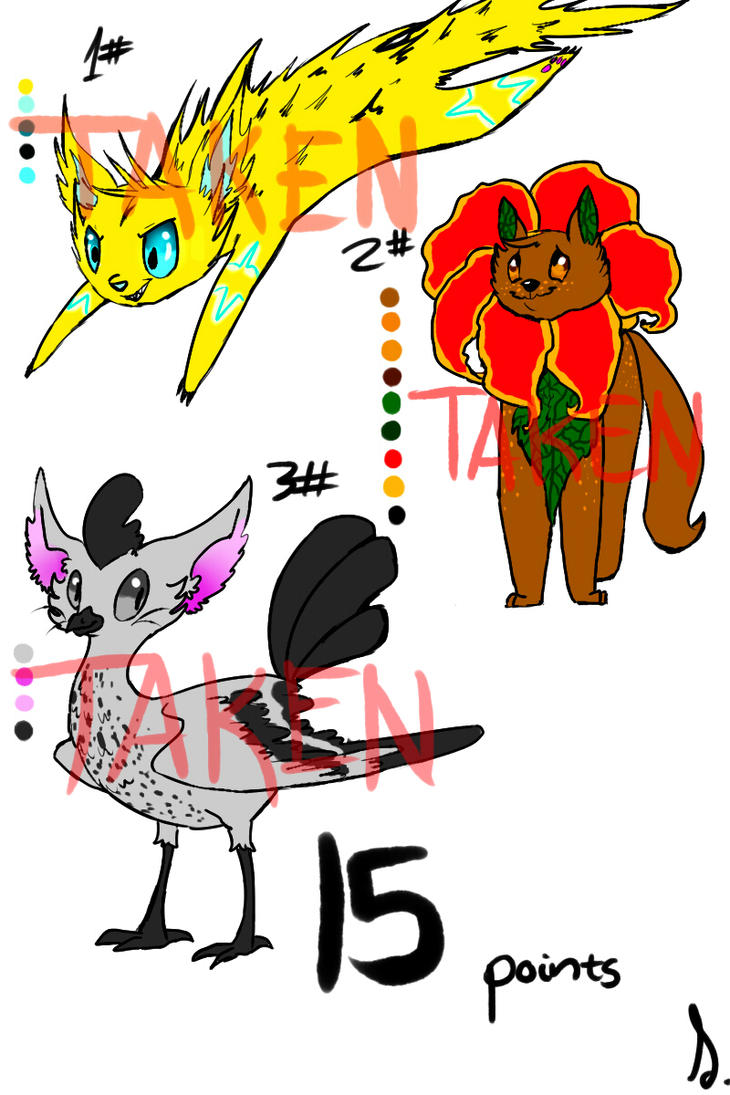 15 point Adoptables CLOSED by sIurpuff