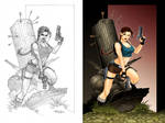 Tomb Raider color work by tato