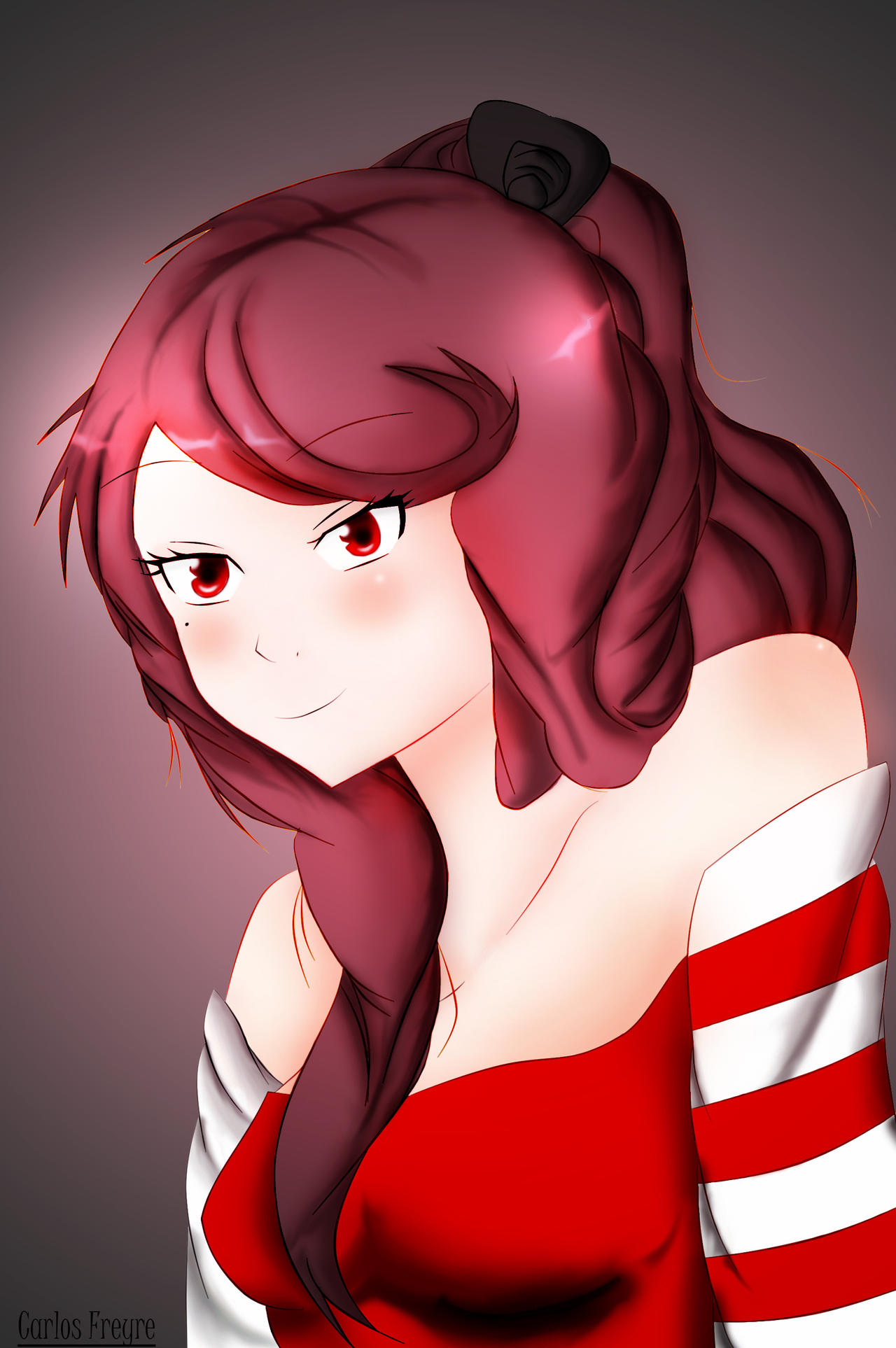Dibujo lo que comenten :) Red_by_carlitoxproductions-d7j7lyq