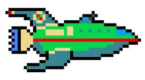 Planet Express (Futurama) Pixel Art
