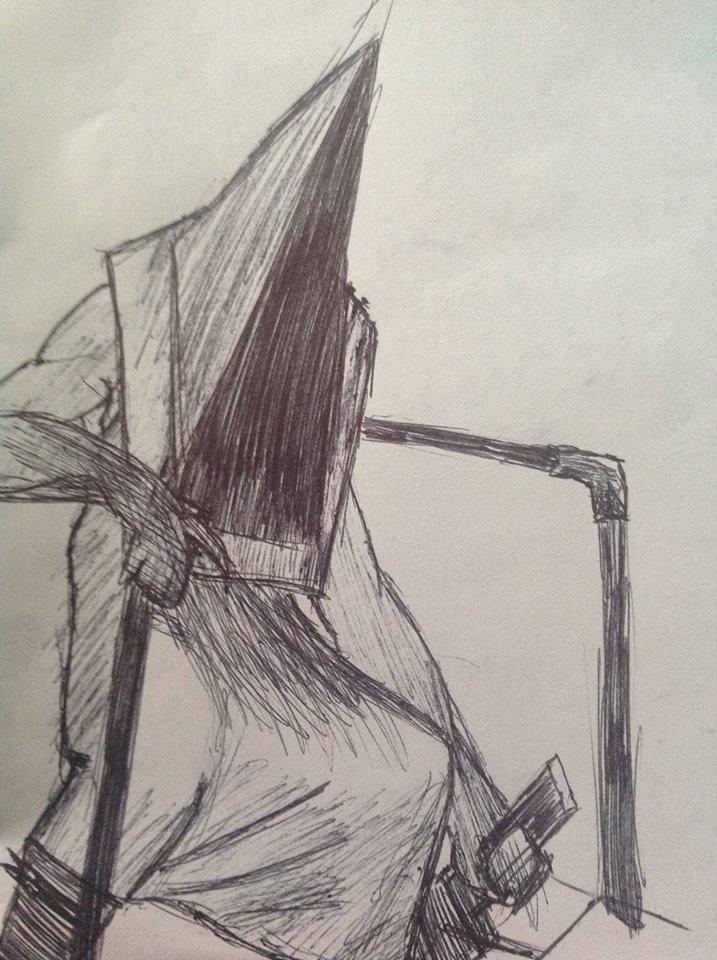 Pyramid Head Sketch 2 by Ask-Key