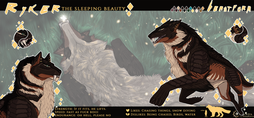 .: Ryker - sleeping beauty - beast action sheet :.
