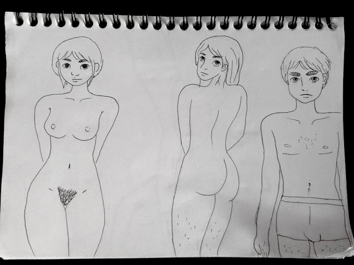 Naked people by Fyreah