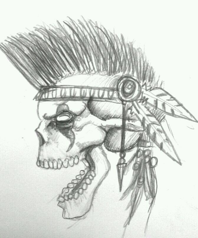 indian skull by DarkMatteria on DeviantArt