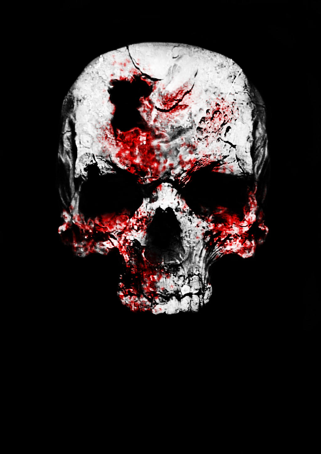 bloody skull wallpaper related - photo #4