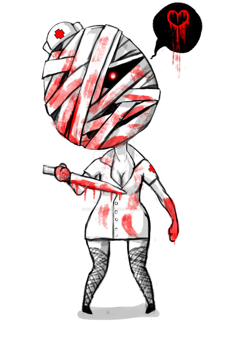 Mini Silent hill Nurse by DarkMatteria