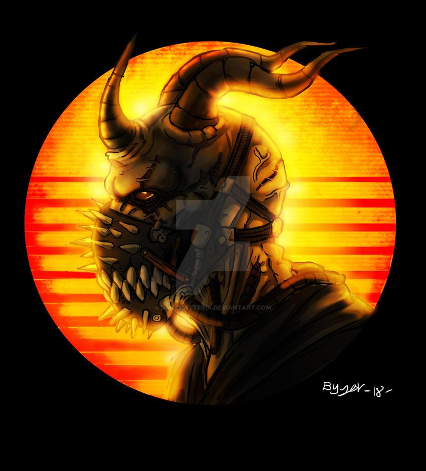 Masked Demon by DarkMatteria