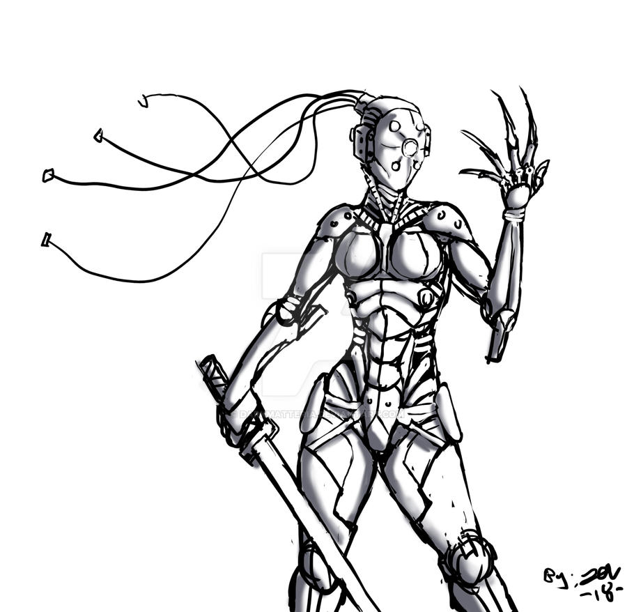 ink bot by DarkMatteria
