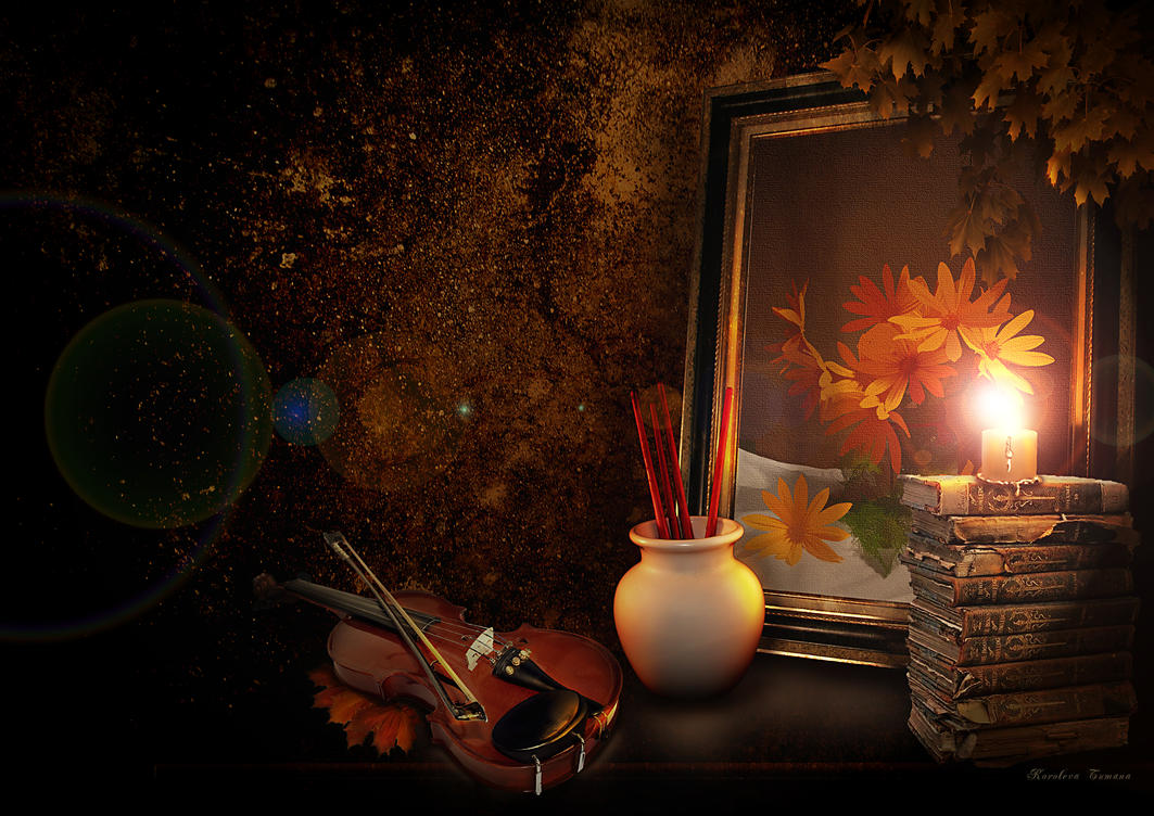 Plamen  svece - Page 3 Autumn_still_life_by_korolevatumana-d498ur8