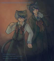Gift- Neko Black Jack and Neko Sebastian by shadowsirenmoon