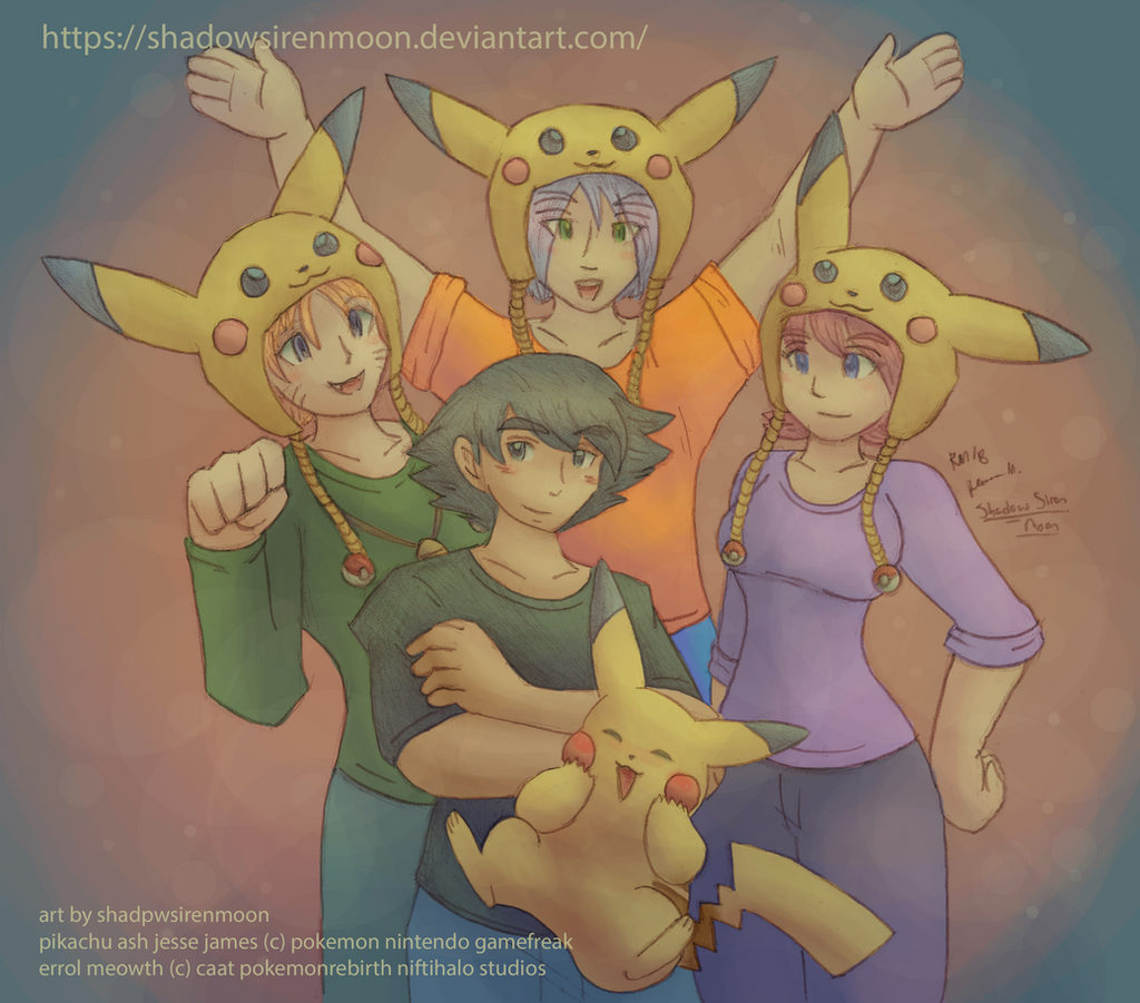 Art Trade- Pika Party by shadowsirenmoon
