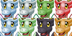 Cute Dragon Faceset Whtdragon